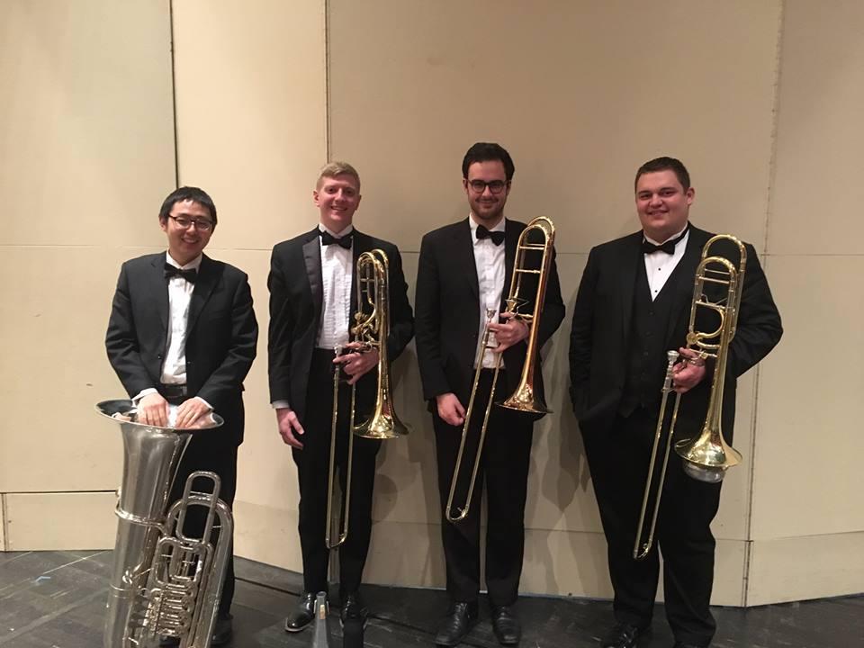 IU Symphony Orchestra Spring 2017: Haiyu Wang, Tucker Woerner, Lucas O'Fee, Joe Aumann
