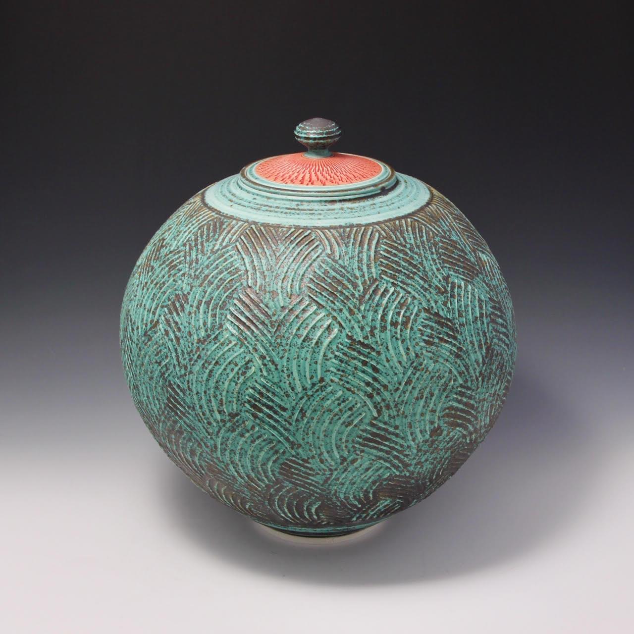 Hsin-Chuen Lin Roller Textured Covered Jar