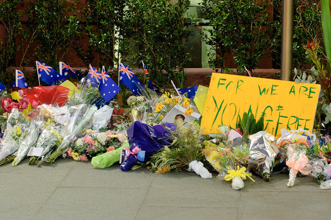 Australian Mourning Display after the Jakarta Bombings