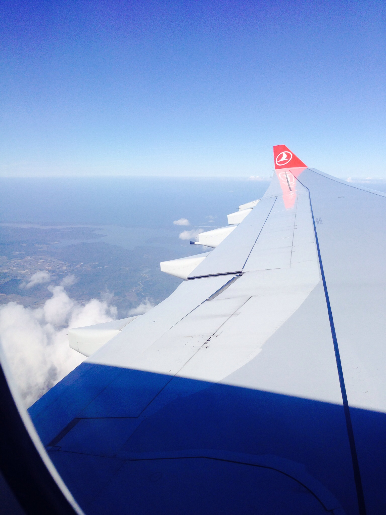 Sitting over the wing over Istanbul
