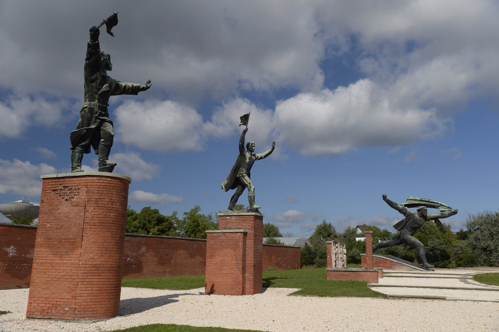 """At Momento Park, Communist monuments usually depict unidentifiable """"workers""""; always happy and moving forward quickly."""