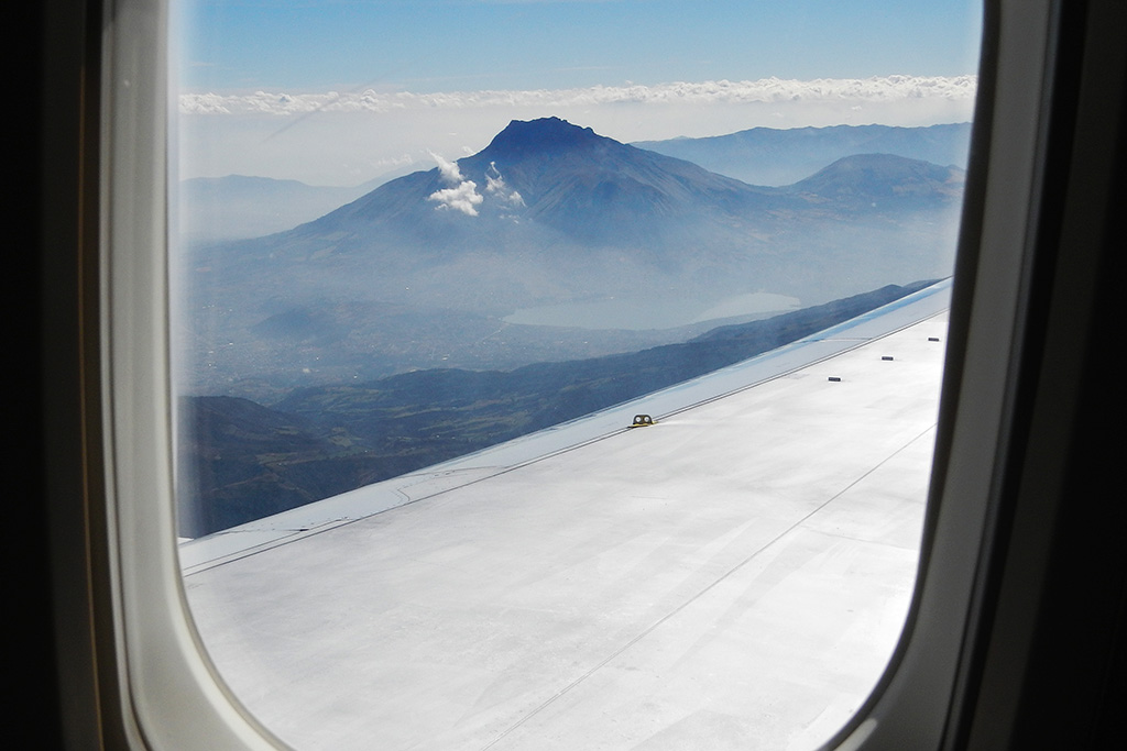 Seated on the wing high above the Andes Mountains...whew! It sure took a lot of planning to get here!