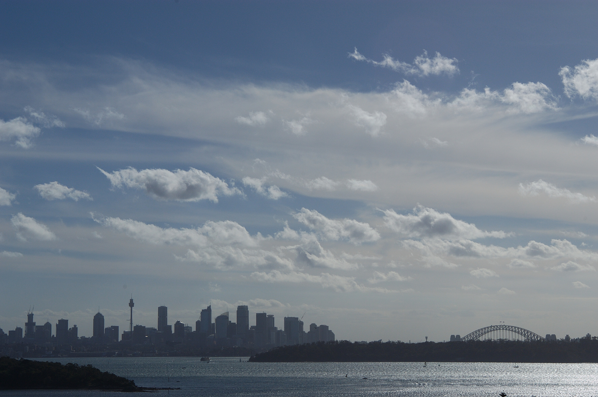 A beautiful view of the city from the ferries.