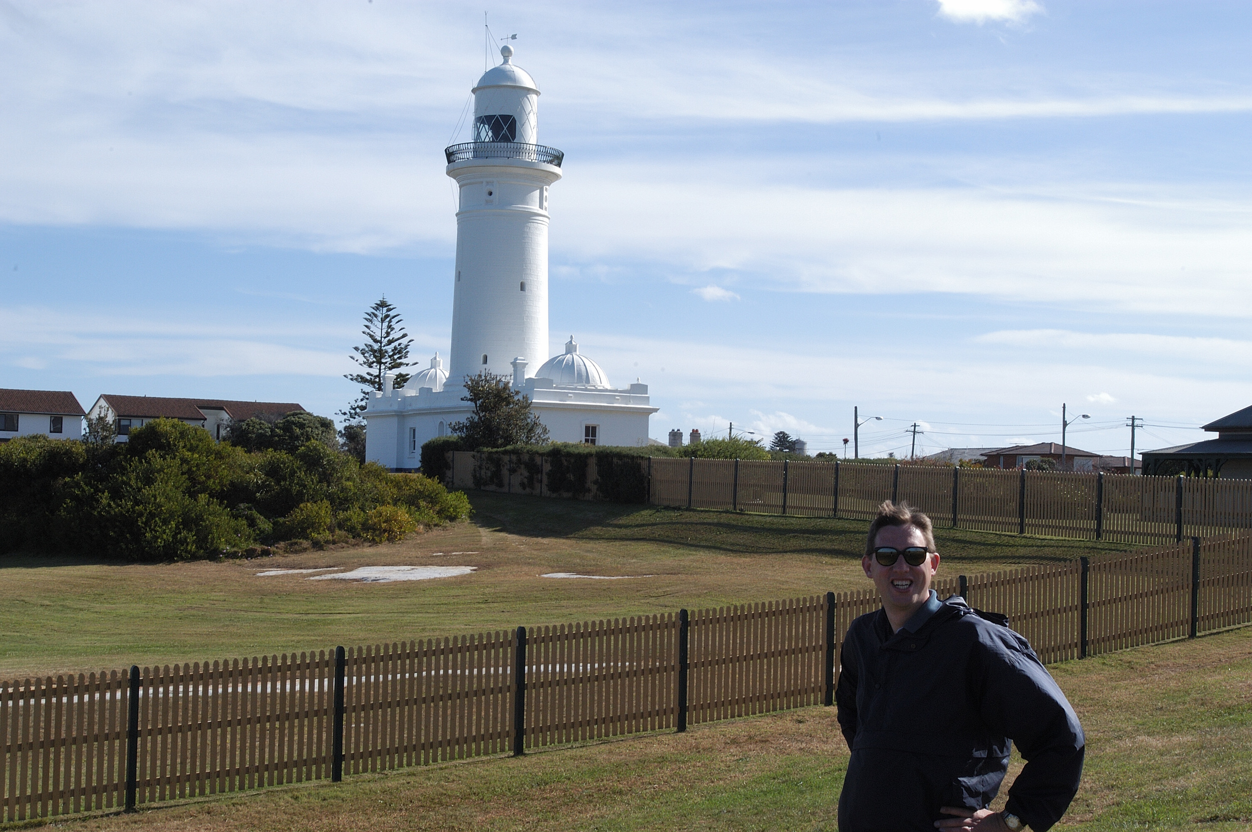Jeff at the Macquarie Light House