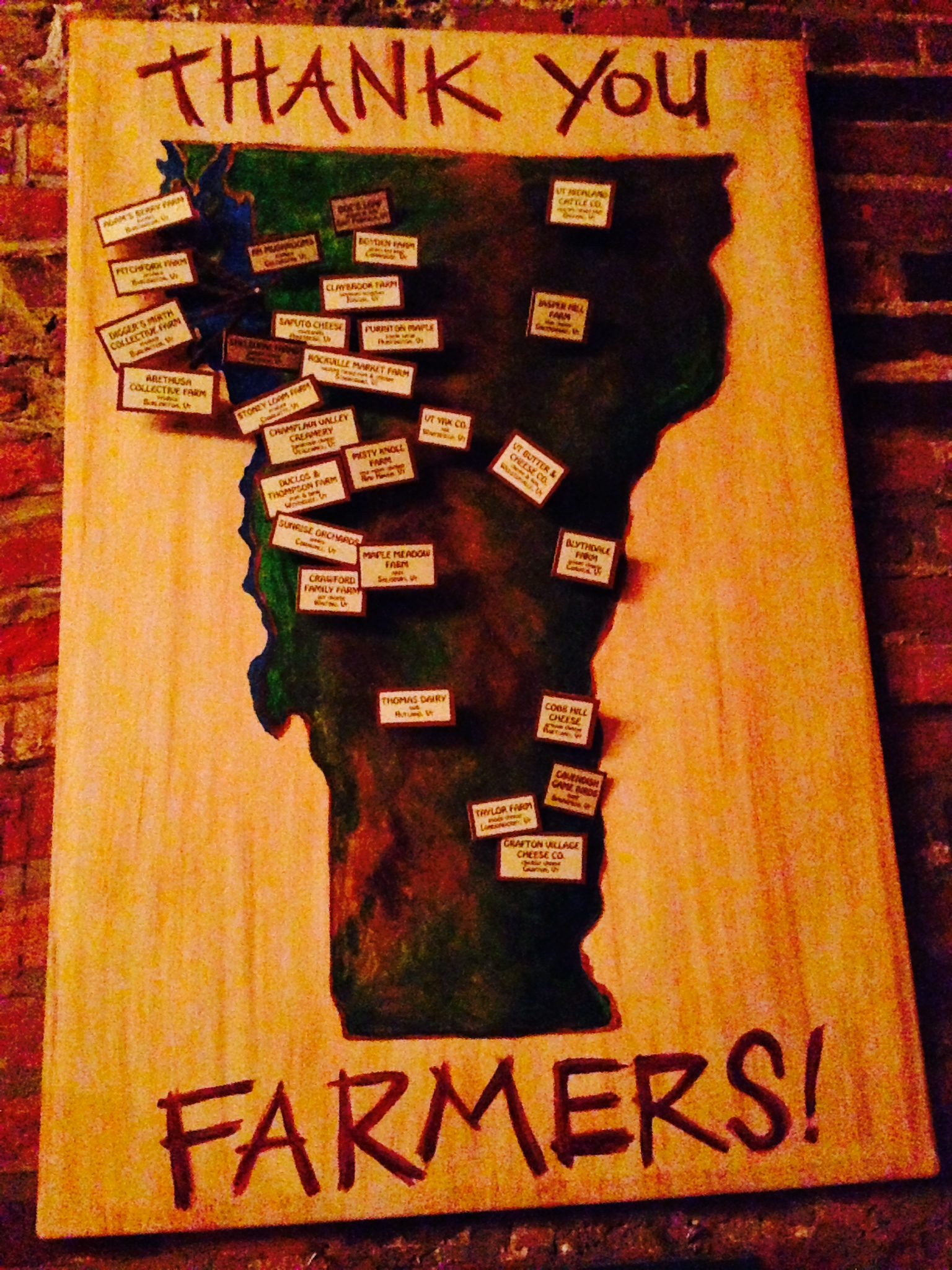 I wasn't kidding about the Vermont food scene, nearly every restaurant and shop (even the UVM cafeteria!) offers one of thesemaps of the locally sourced food. Somehow, better ingredients do make for more delicious dishes! Our daughter rated UVM's food at the top of her list for colleges!