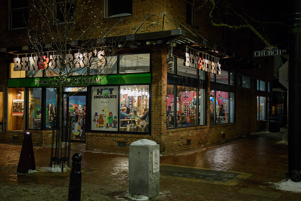 Born in Vermont...Ben and Jerry's has 2 locations in Burlington, one on Church St and one on campus.