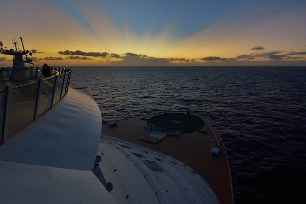 Sunset on the helipad