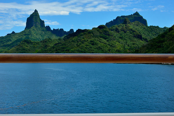 View of Moorea from the sun deck