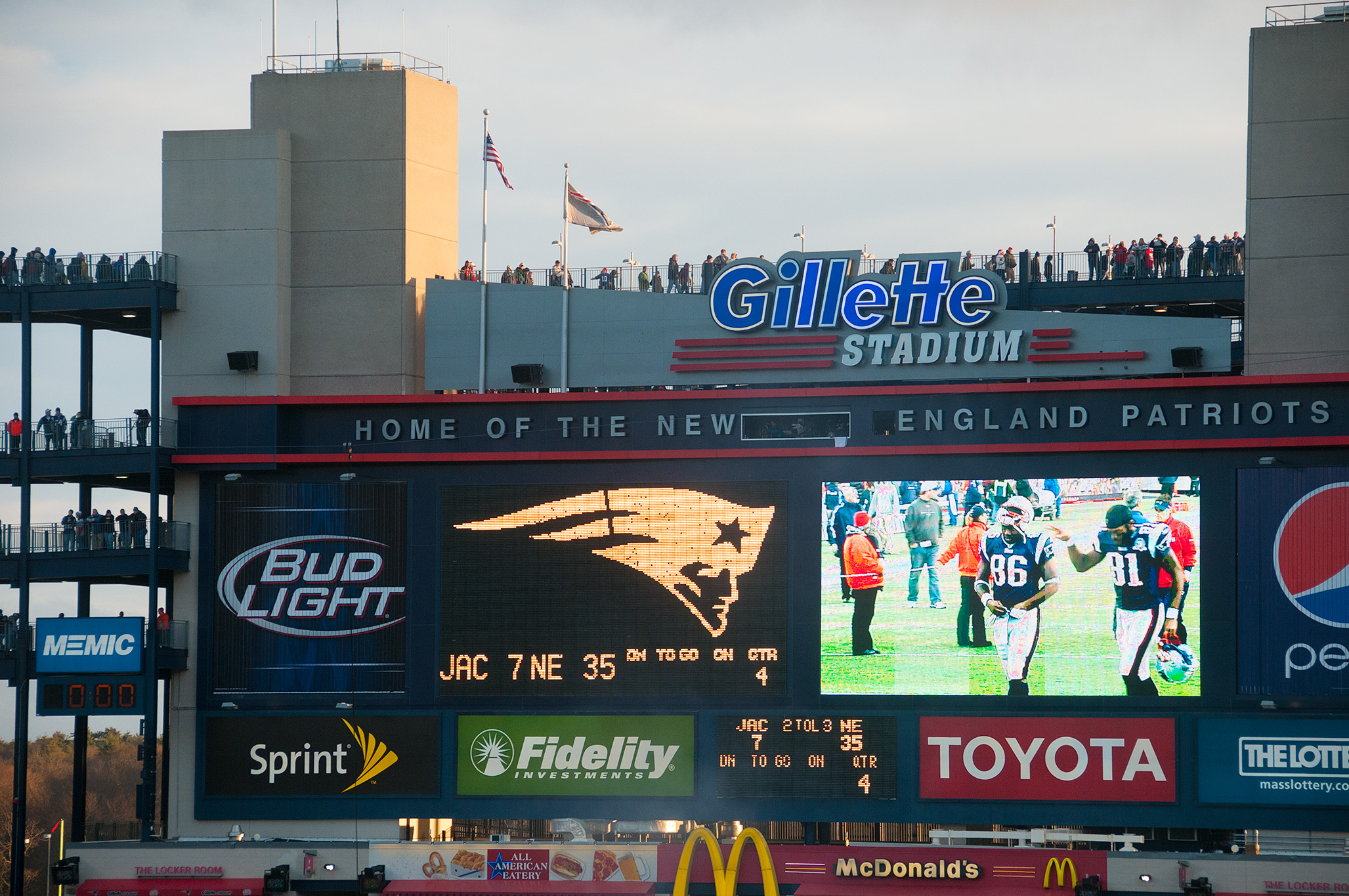 Even without a ticket to a game, a visit to Patriots place will allow you to see inside the very open Gillette Stadium where the patriots play.