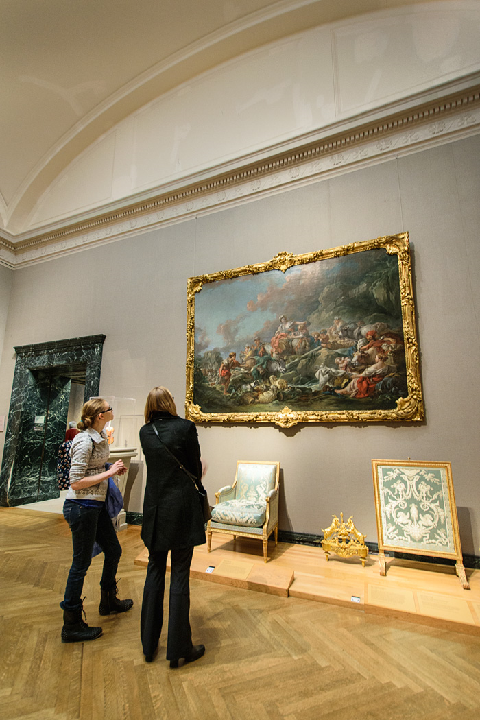 Some family members like to spend a little more time at one place than others, like this trip to the Boston MFA.