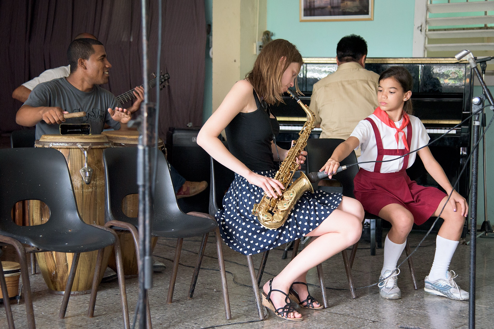 Our daughter had the opportunity to play with the students and teachers at a school for the arts in Matanzas, Cuba