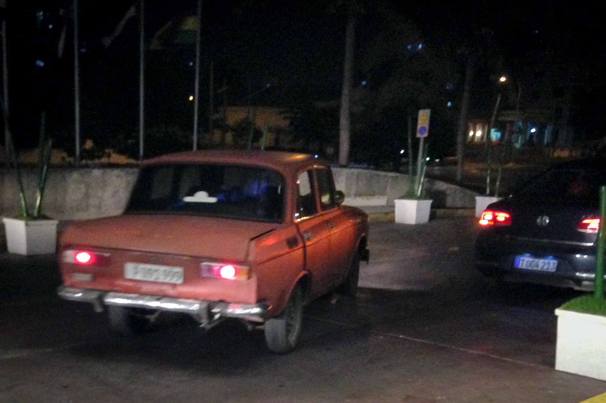 "An ancient and barely operational Lada was our ""unofficial taxi"" home one evening. While not technically sanctioned as a taxi an enterprising man was willing to drive us and we were willing to pay for the experience. While not for the faint of heart, it WAS an experience, with gas fumes, semi operational window cranks, and doors that unmatched flew open around the corners, we never laughed so hard! (Photo by Kathy Klofft)"