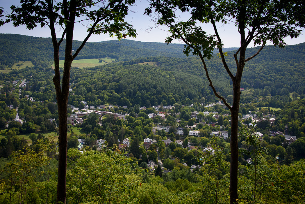 A view of Woodstock from the Summit of Mt Tom