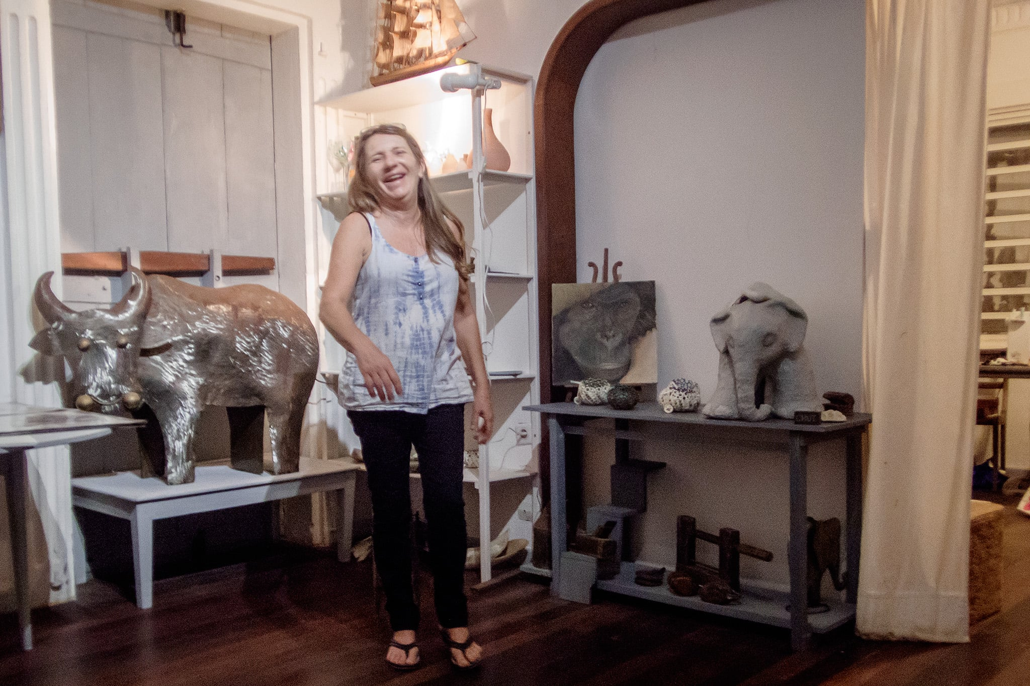 The spirited Sylvie Calley in her   Elephant Box Gallery