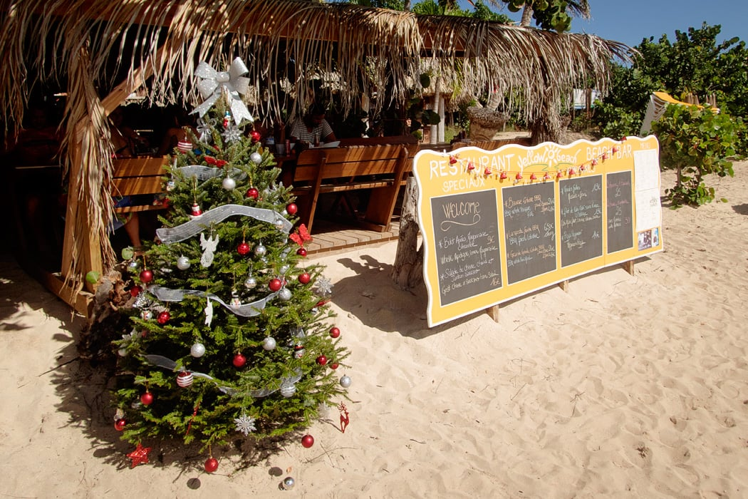 One of two beach clubs that offer food and bar service in the Islet.