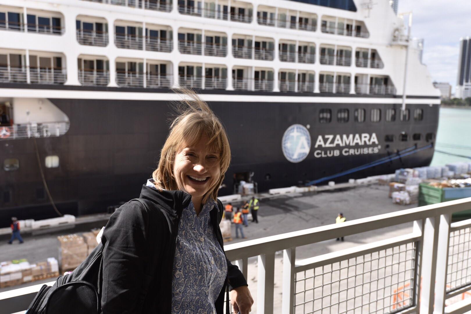 Boarding the Azamara Journey