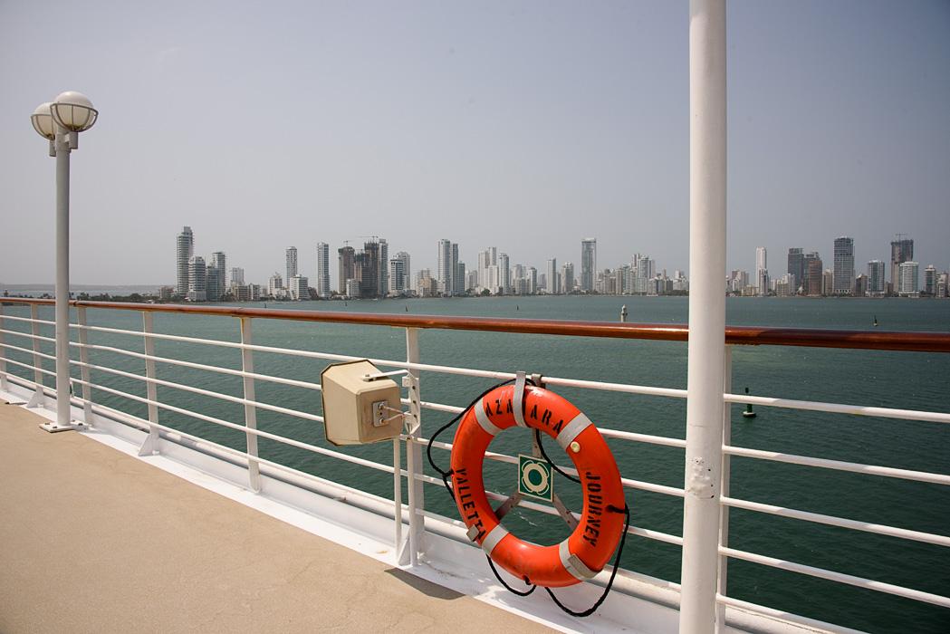 Cruising into Cartagena aboard Azamara Journey