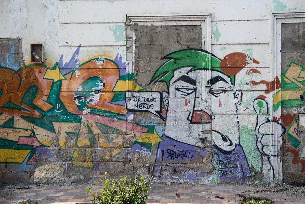 Some graffiti on a wall