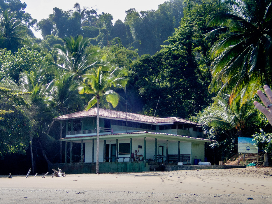 The Cano Island Ranger Station and beach