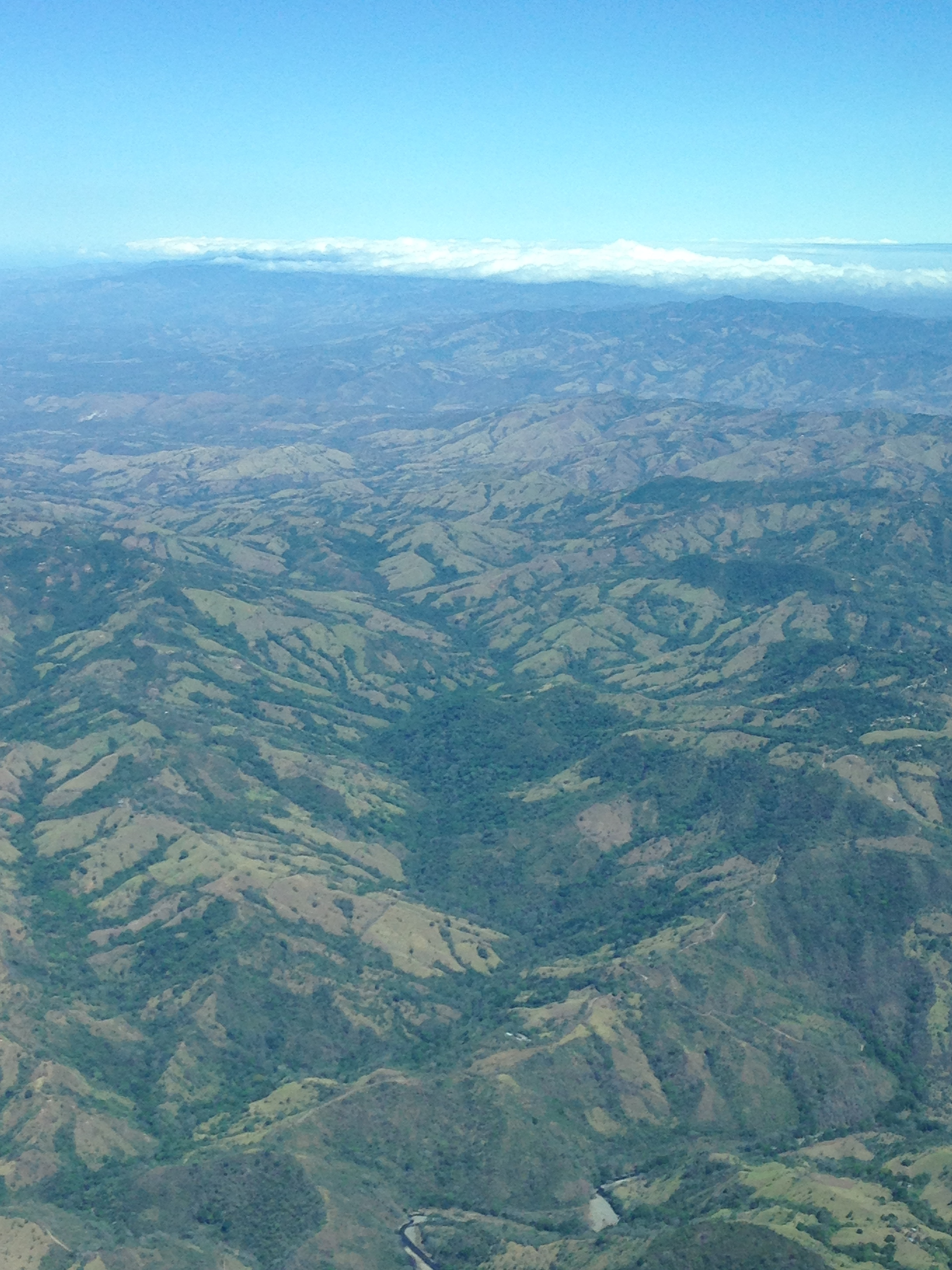 Flying over the highlands in small plane is one of the highlights of travel around Costa Rica.