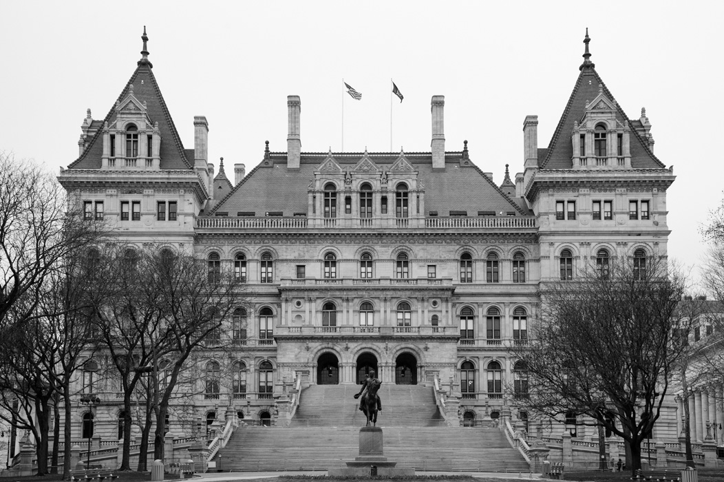 The New York State Capitol building. Architects were Thomas Fuller and Henry Hobson Richardson