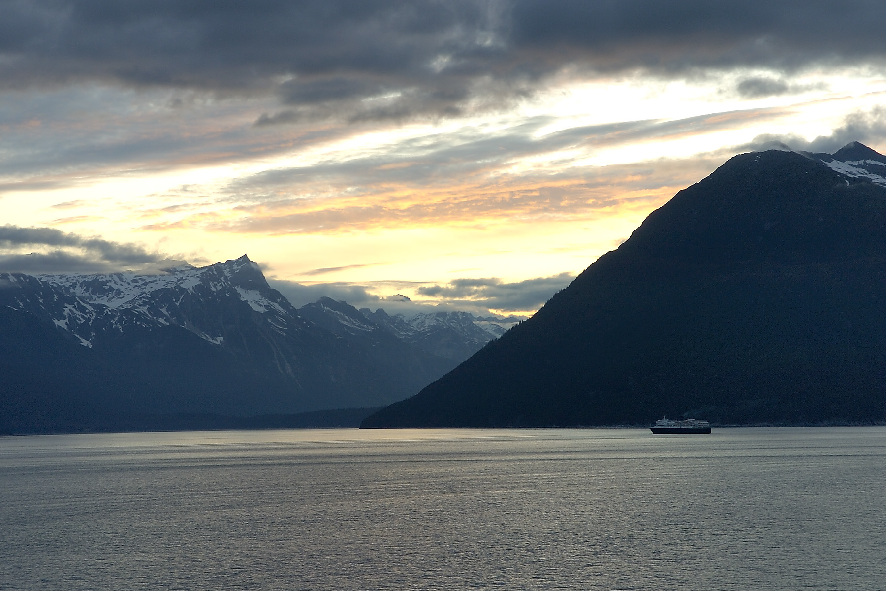 The view leaving Skagway