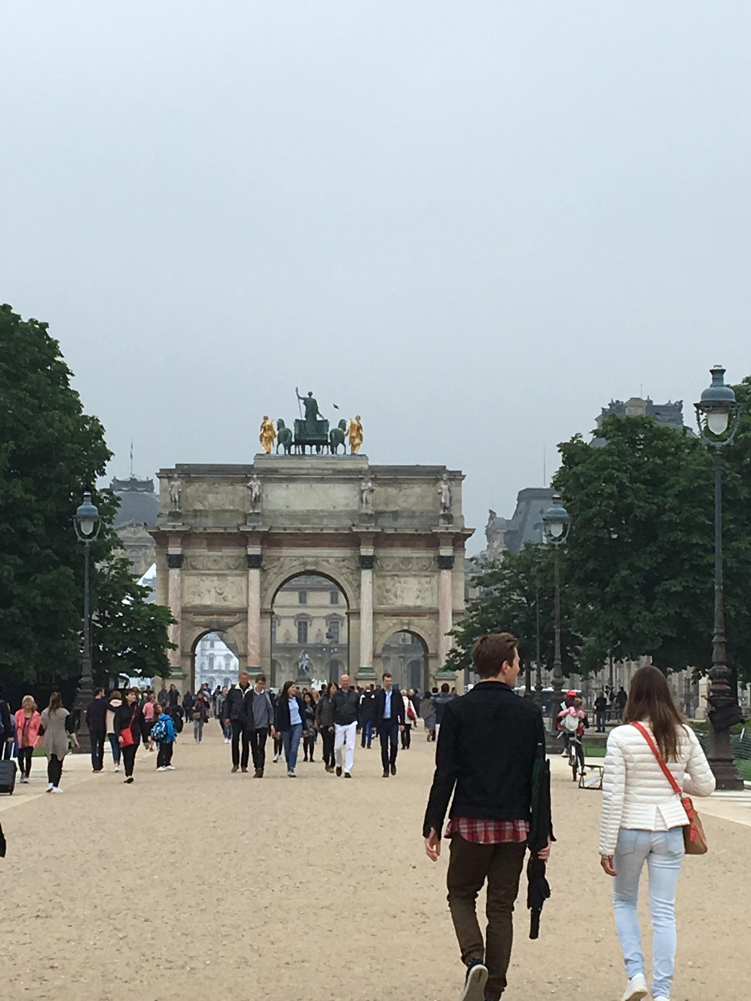 A Triumphal Arch at Palais Royal