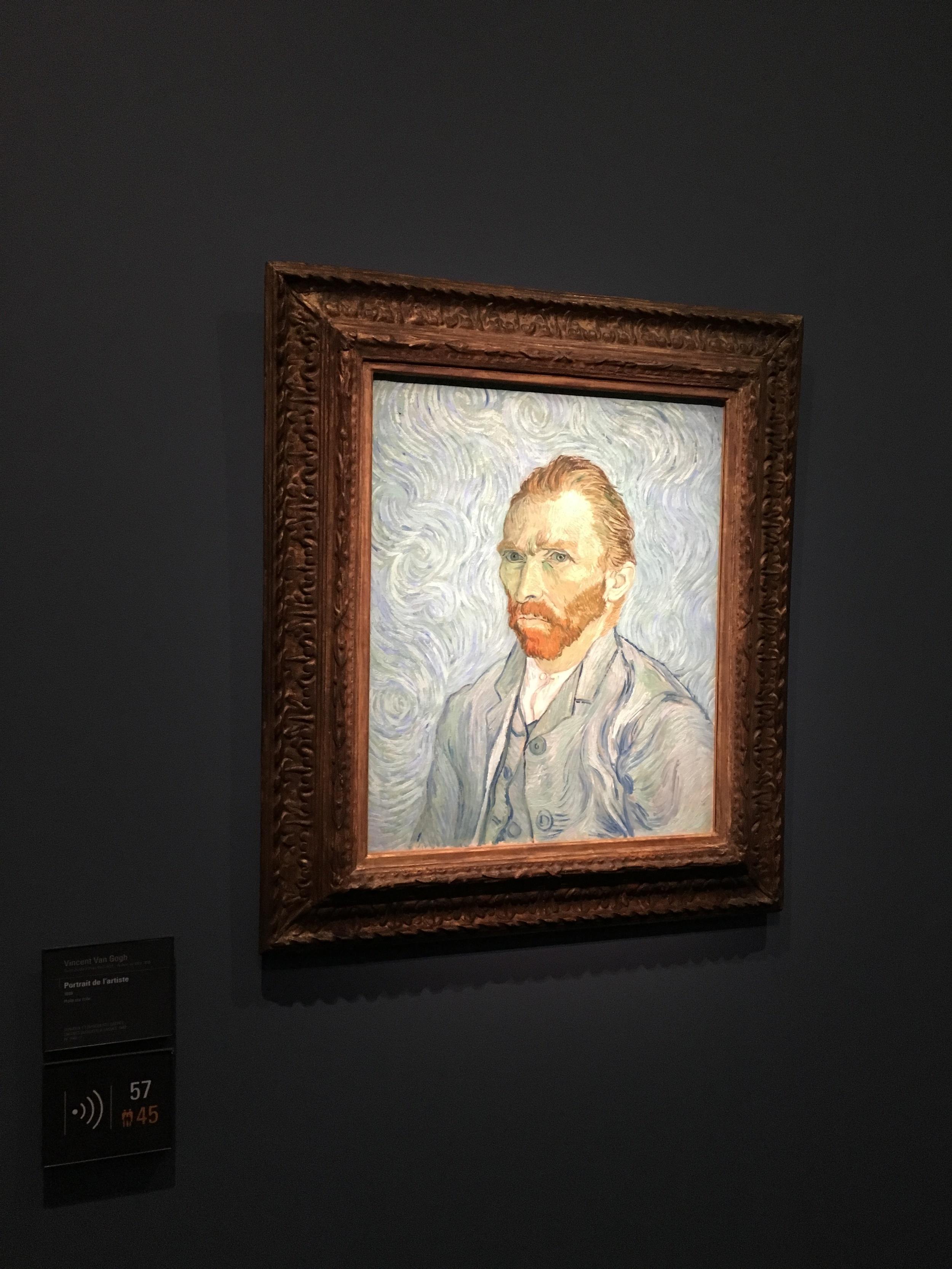 My favorite piece-self portrait of Van Gogh