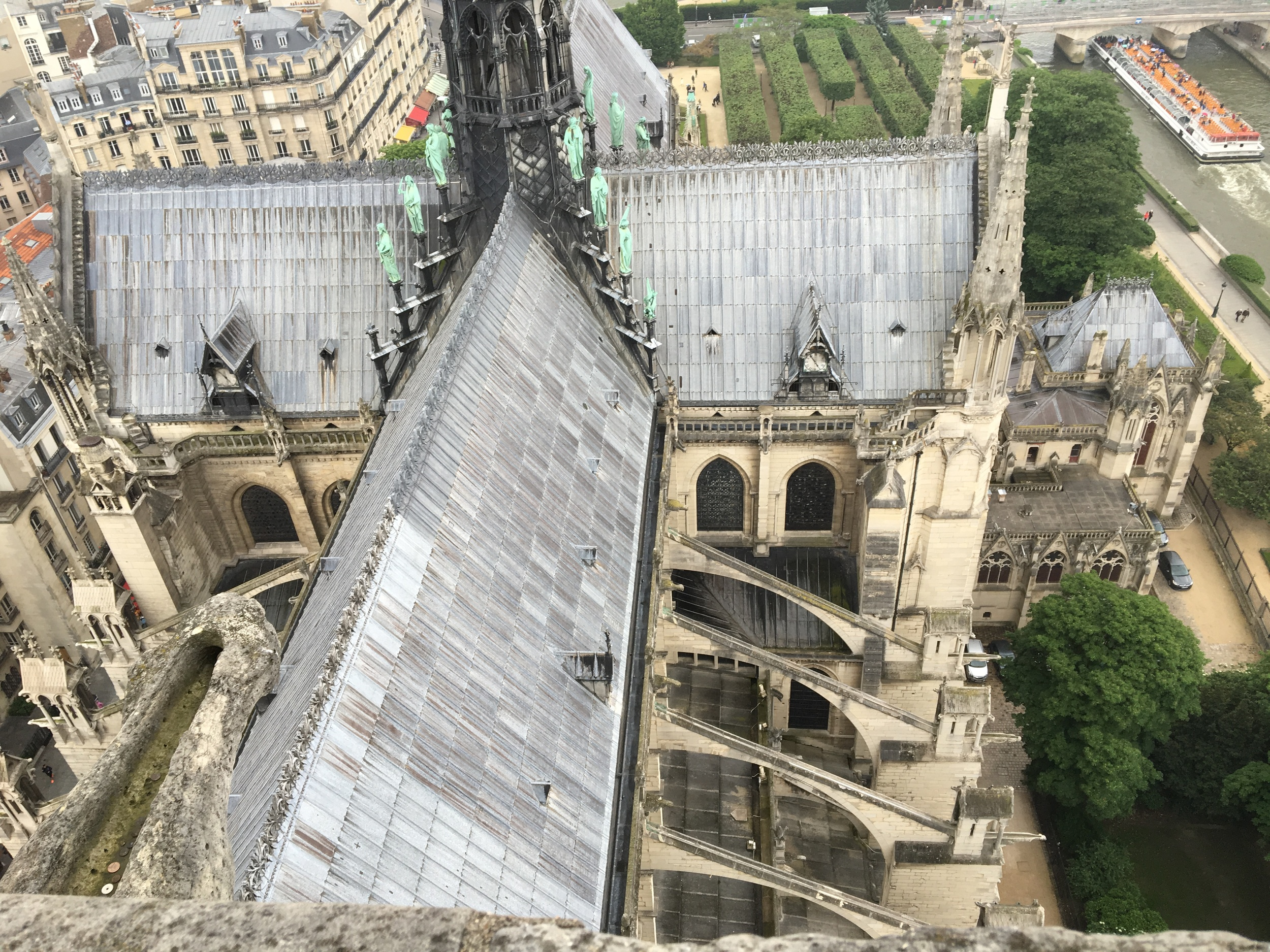 Seeing the flying buttresses used int he architecture was highlight for the young designer!