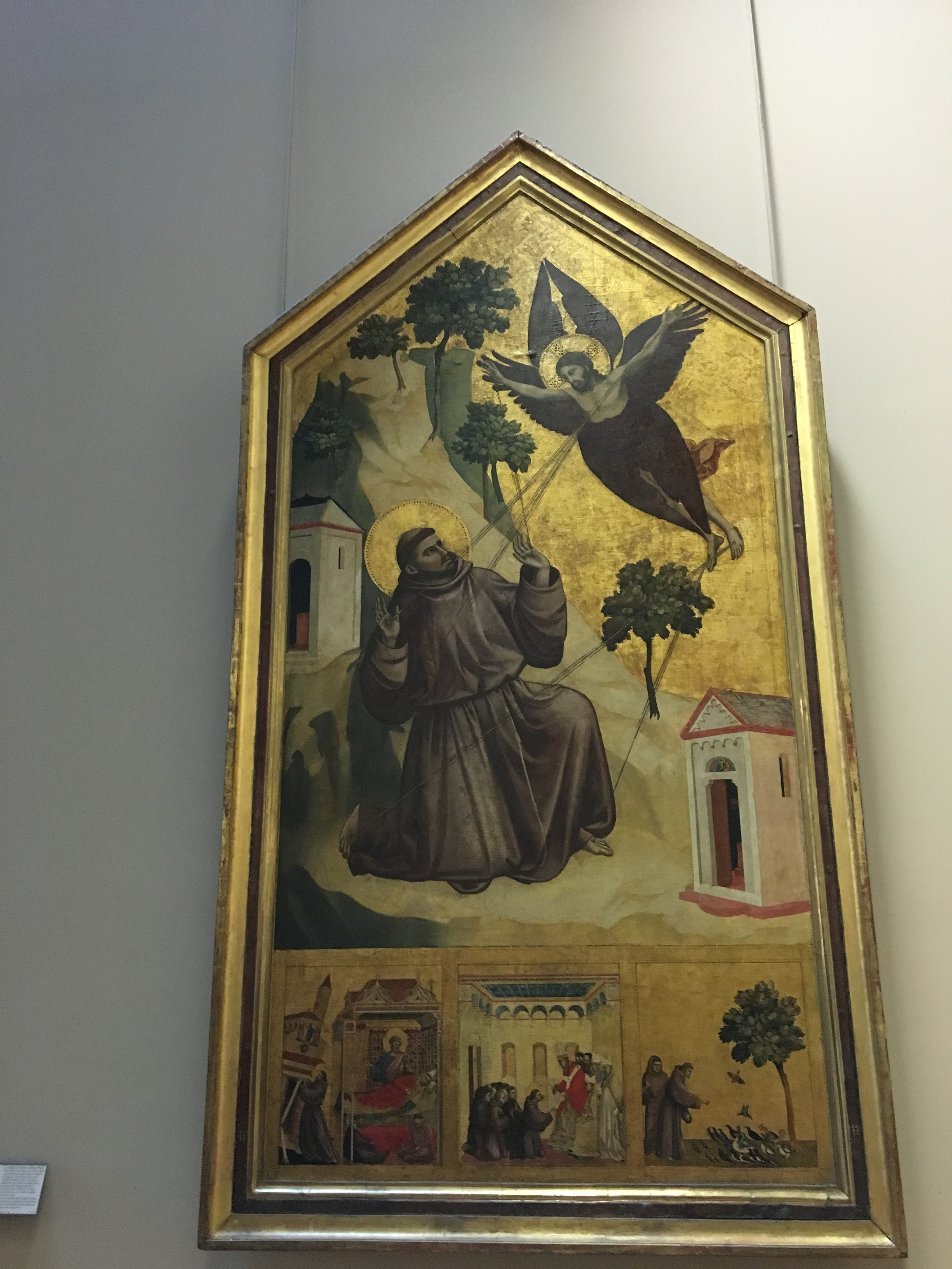 We learned that early Italian religious art often lacked perspective and the development of perspective was just starting with this work by Giotto depicting St Francis.