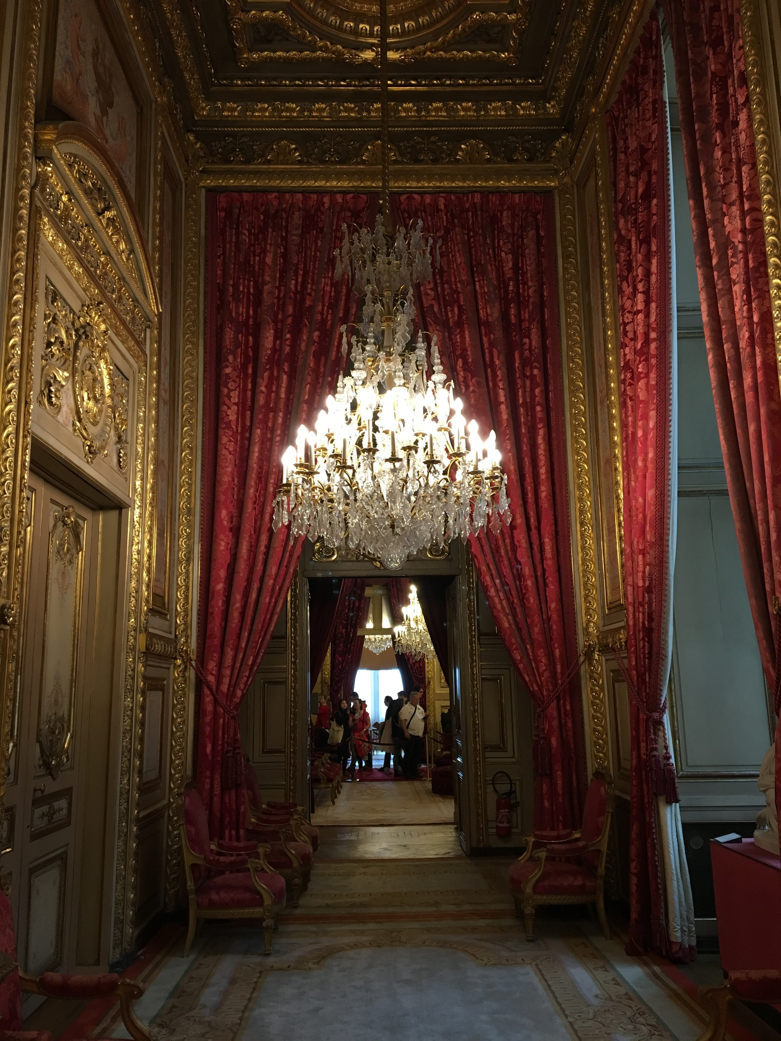 The end of tour we had just enough time to tour the Apartments of Napoleon III, which was a treat for us, because of my daughters interest in the decorative arts!
