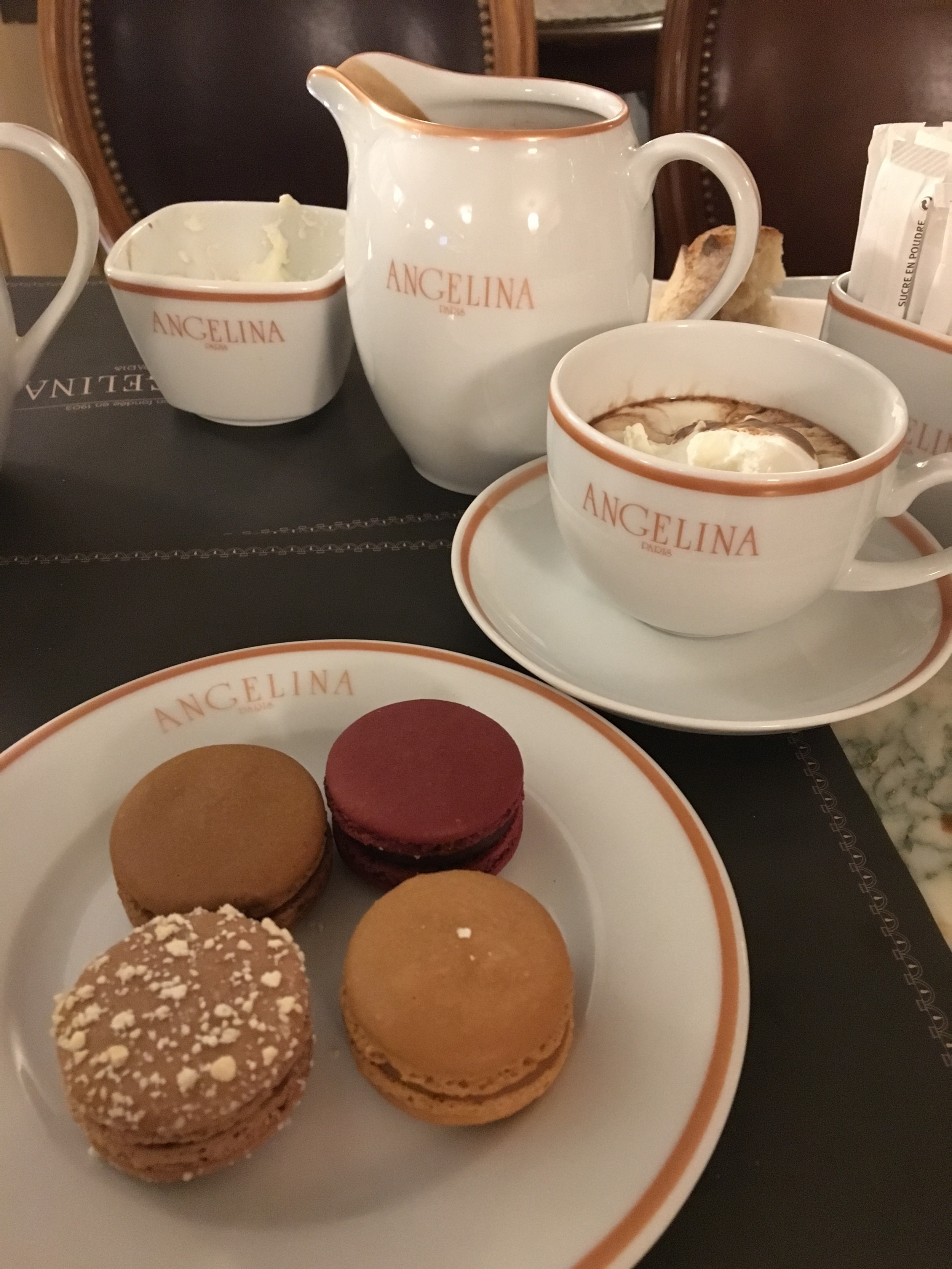 A variety of mini macarons