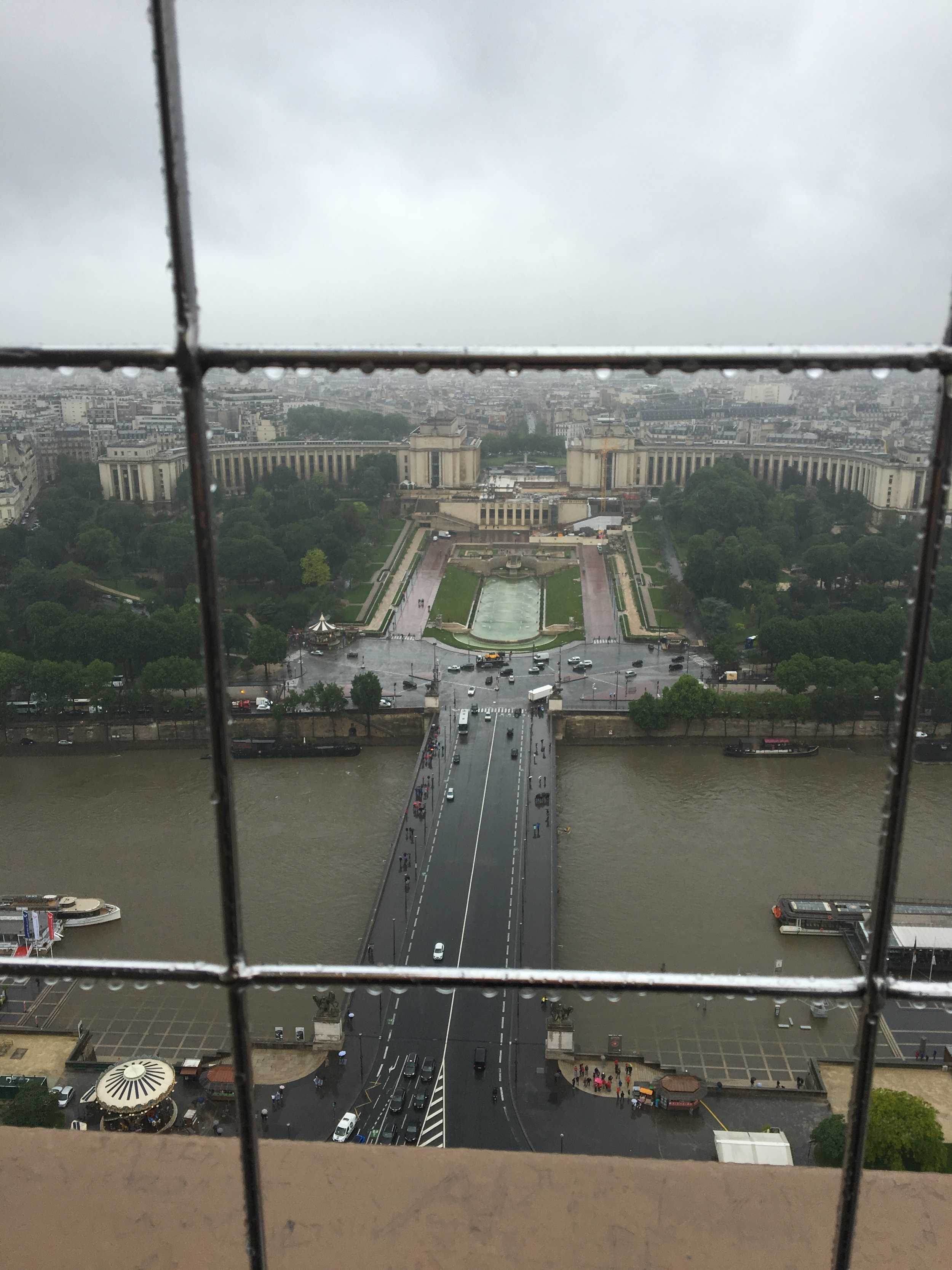 A view of Trocadero form the second stage of the Eiffel Tower