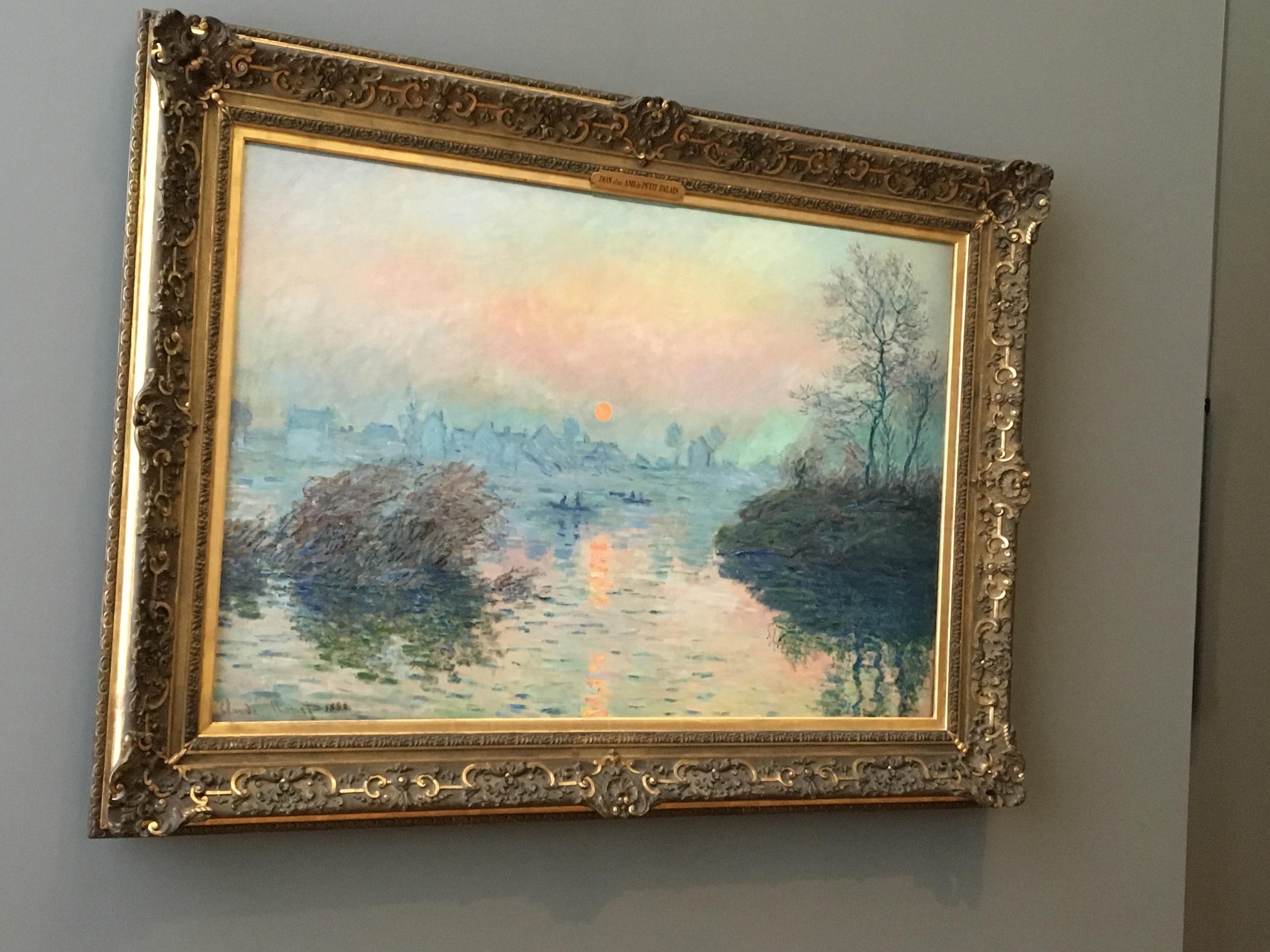 Monet's Sunset on the Siene