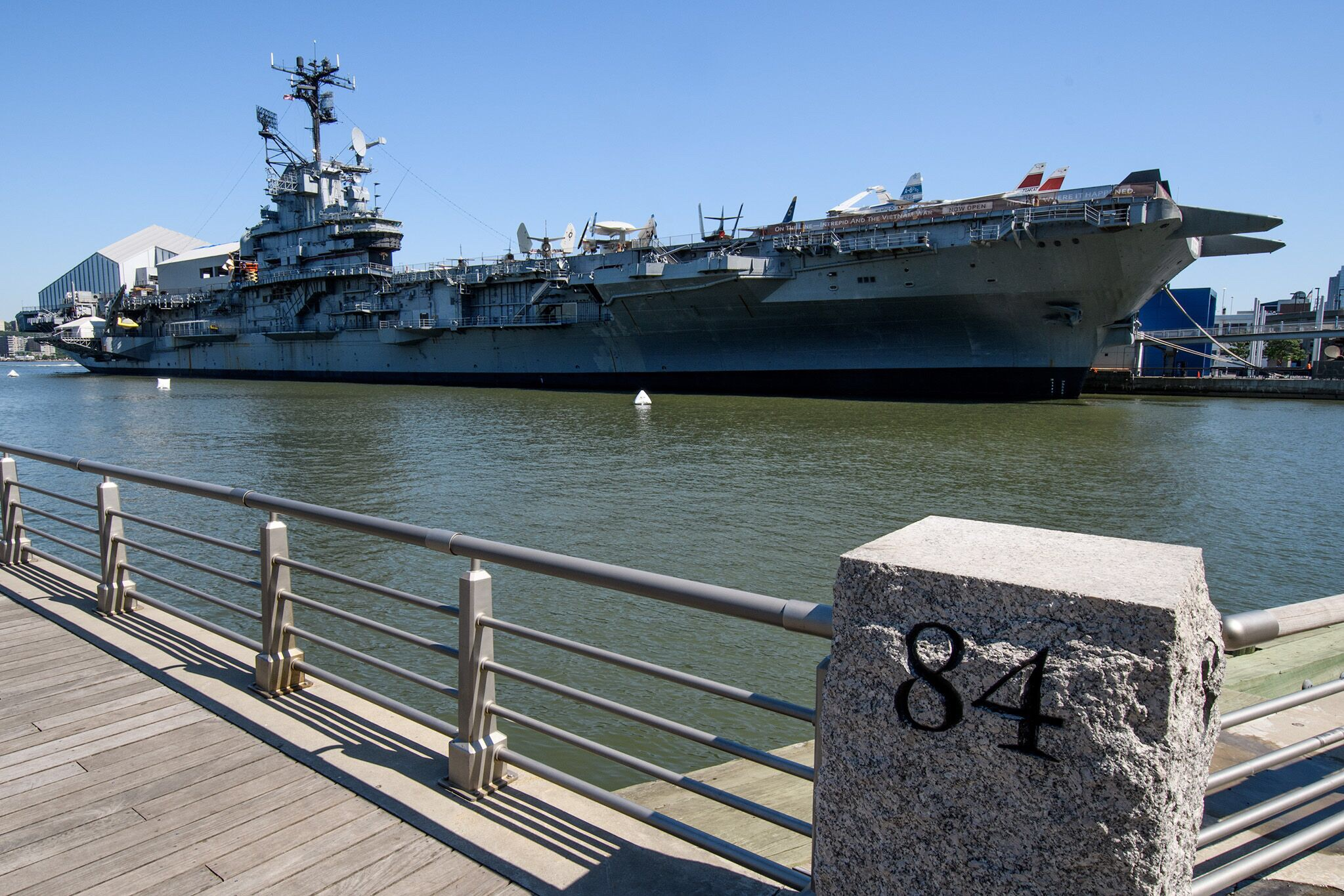 After joining the Hudson River Greenway, we came upon the Intrepid Museum, located on an aircraft carrier.