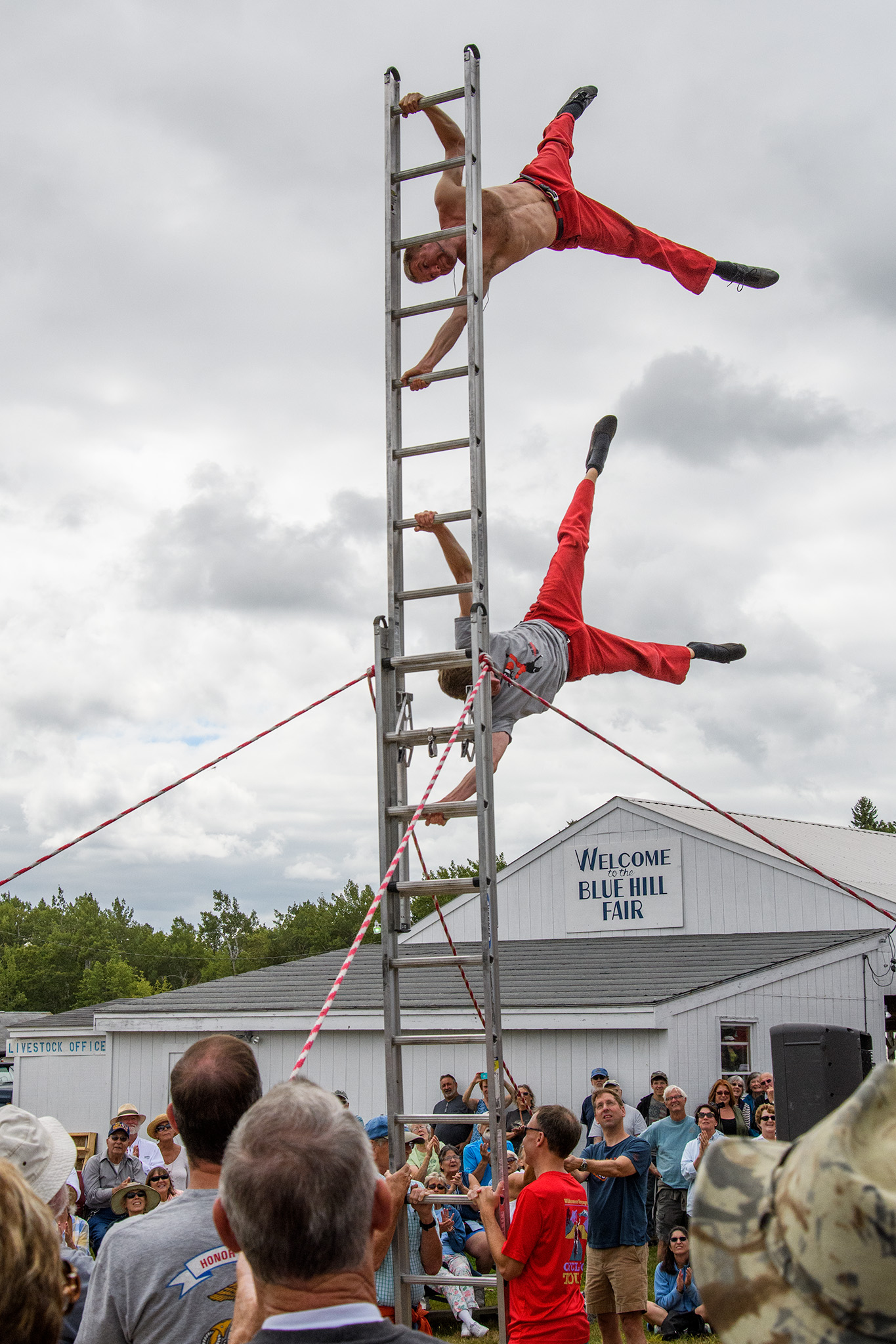 The Red Trouser Show, in the vaudeville tradition, relies on several willing volunteers.