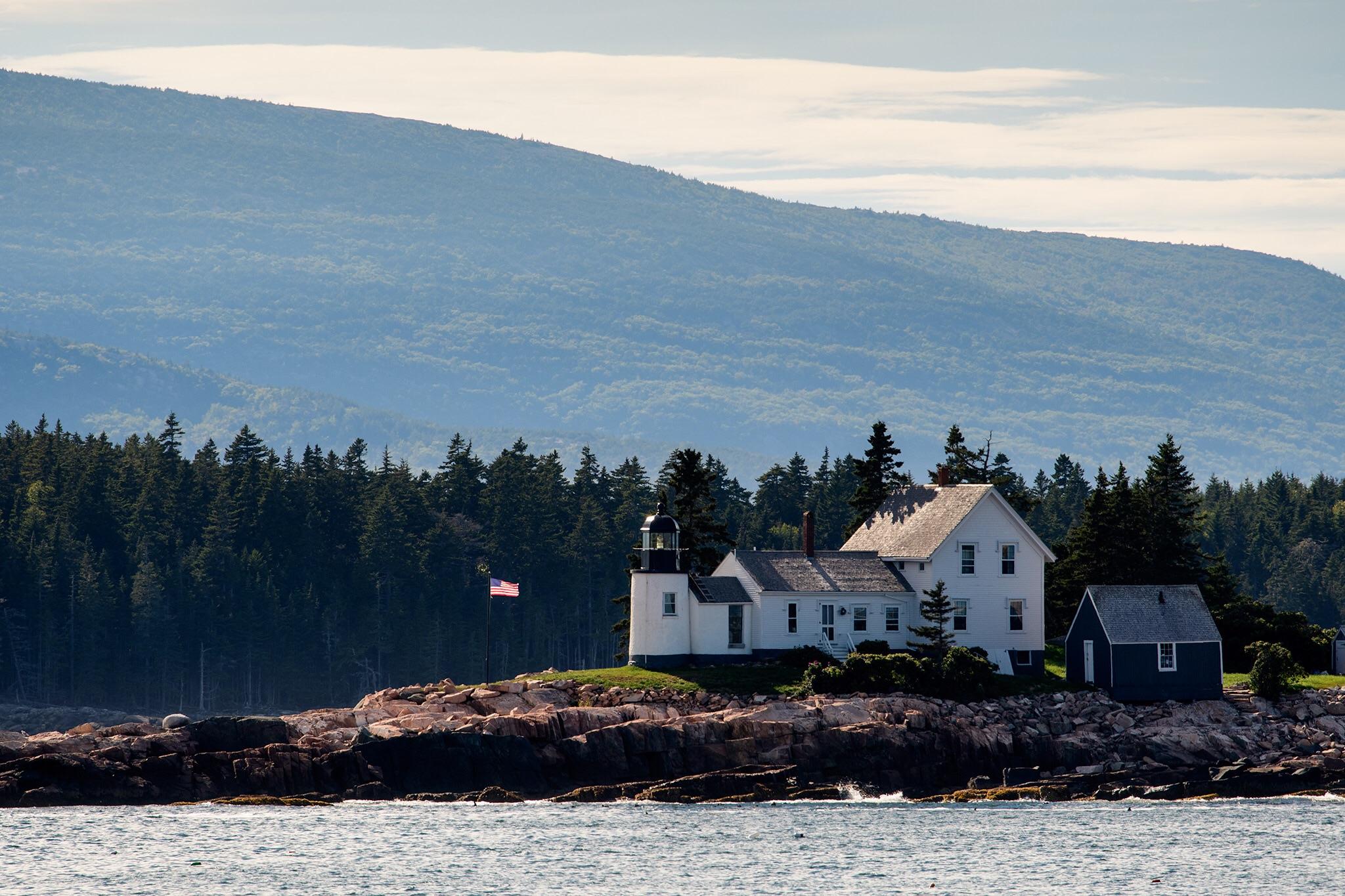 The Winter Harbor Lighthouse on Mark Island
