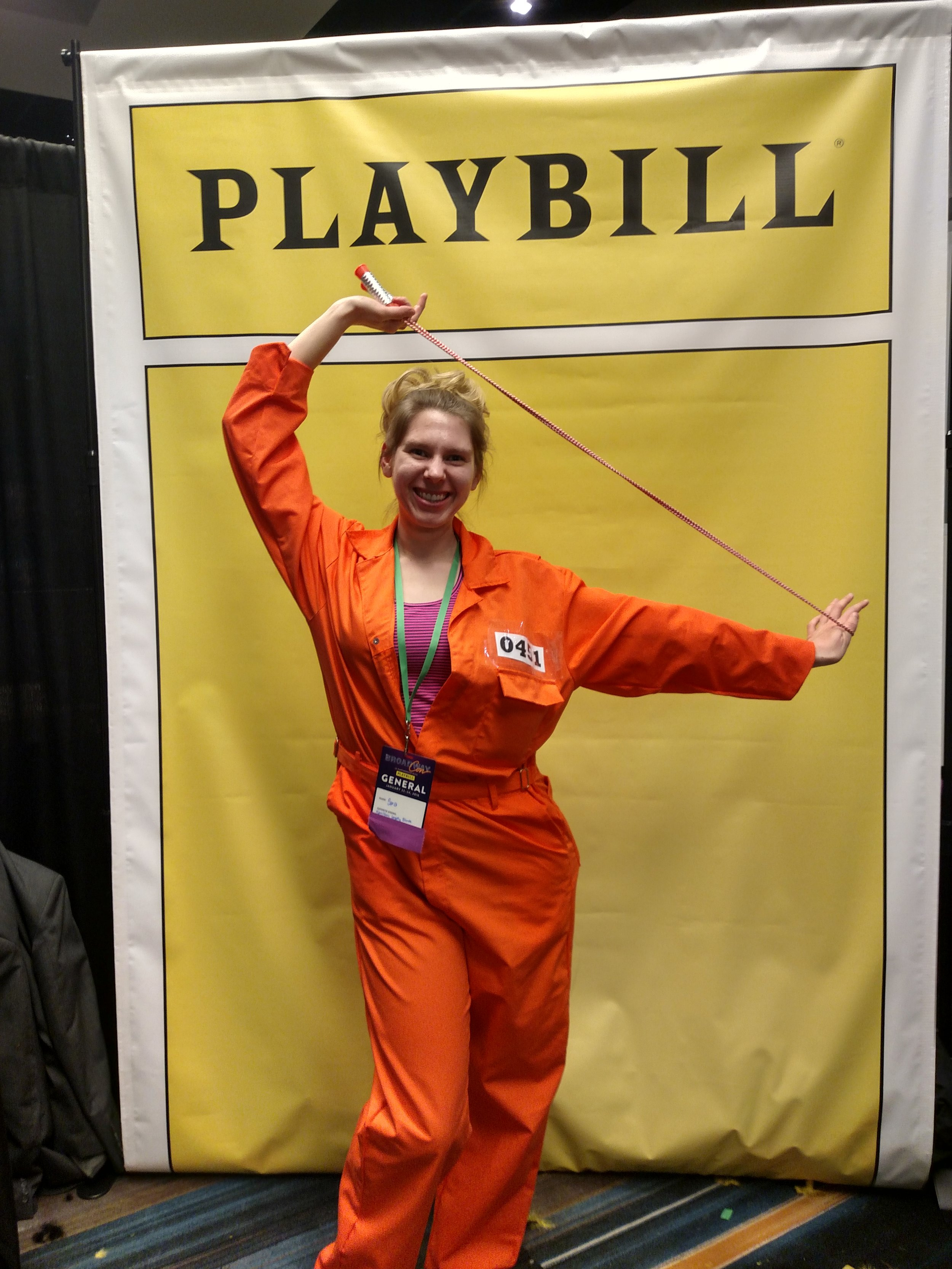 "Don't forget your costumes!  Sara as ""Brooke"" from Legally Blond."