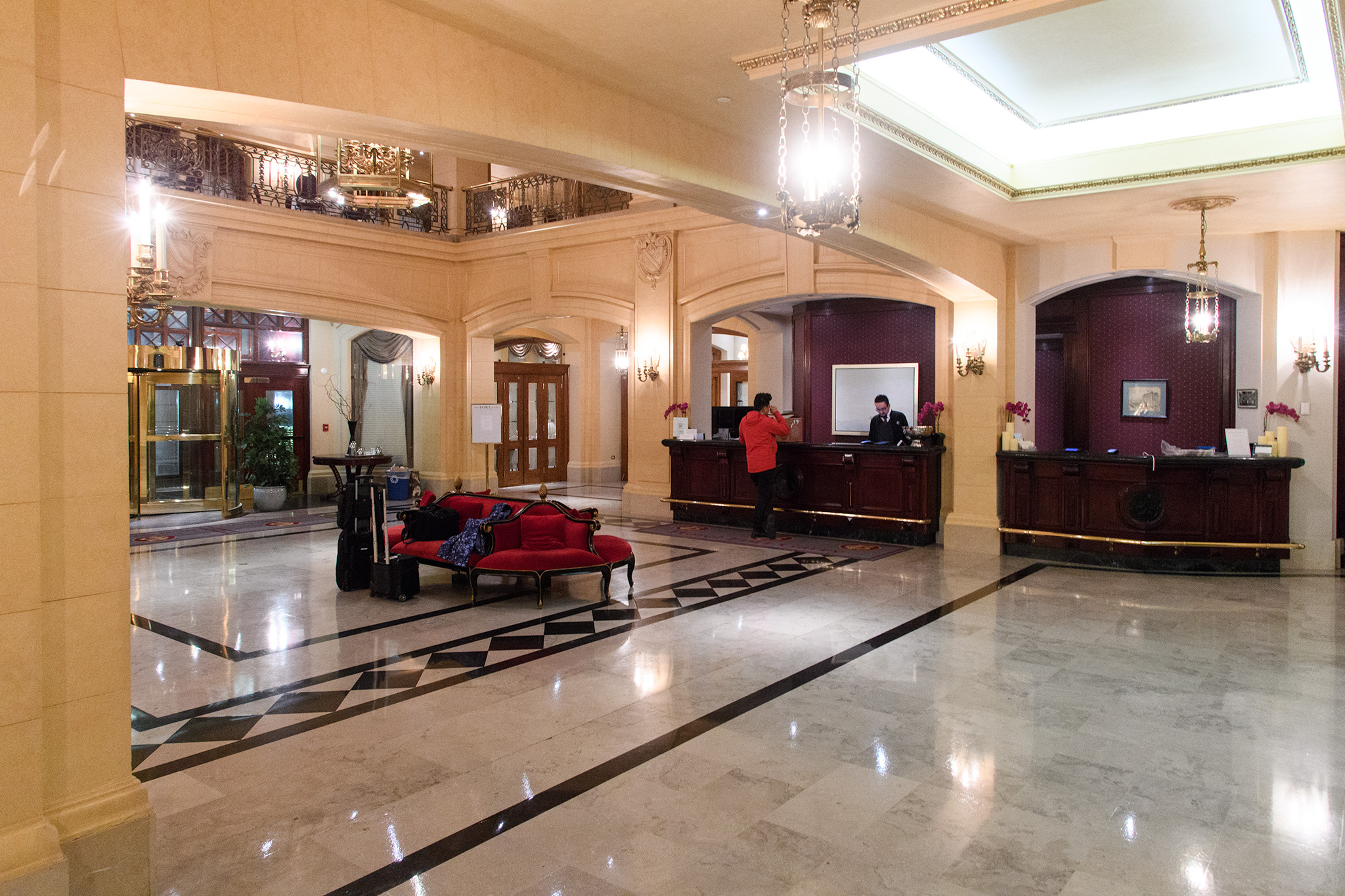 The Lobby of the Ft Garry Hotel