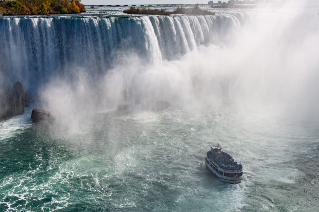 There are a variety of ways to experience Niagara Falls, including the Hornblower boat trip (from the Canadian side) and Maid of the Mist (departs from the American side)
