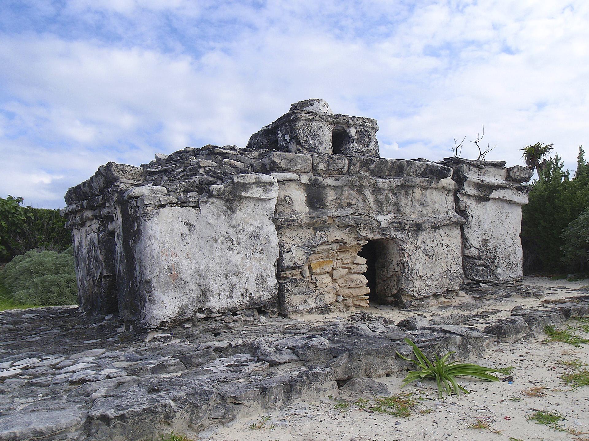 A Mayan ruin on Cozumel