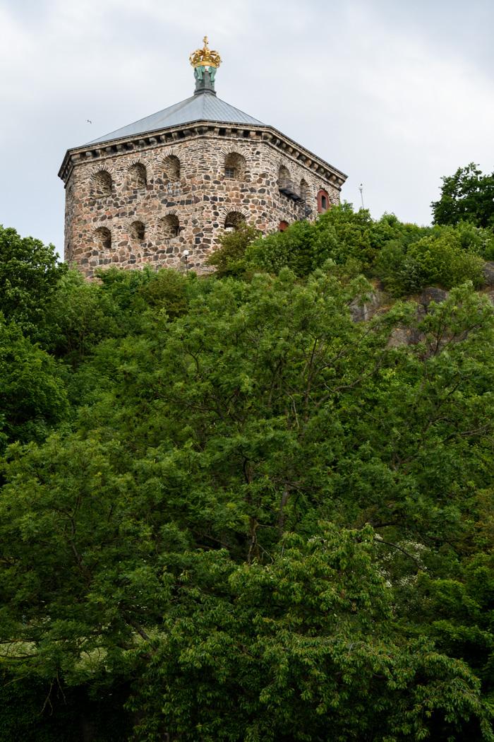 Skansen Kronen set on a high hill
