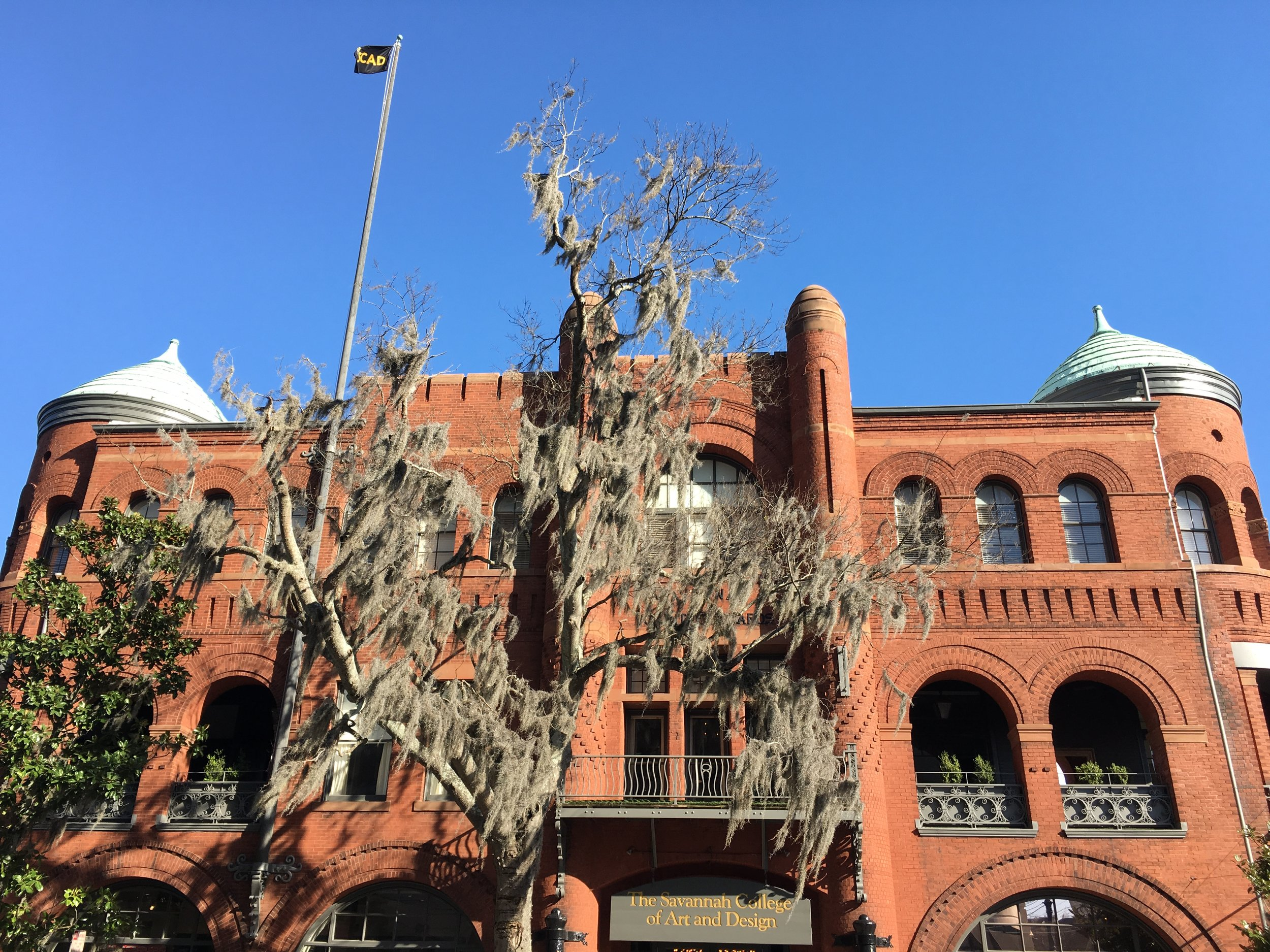 Savannah College of Art and Design has undertaken expansion by renovating historic buildings all over the city, including their first building, the old armory, where the museum and gallery is located.