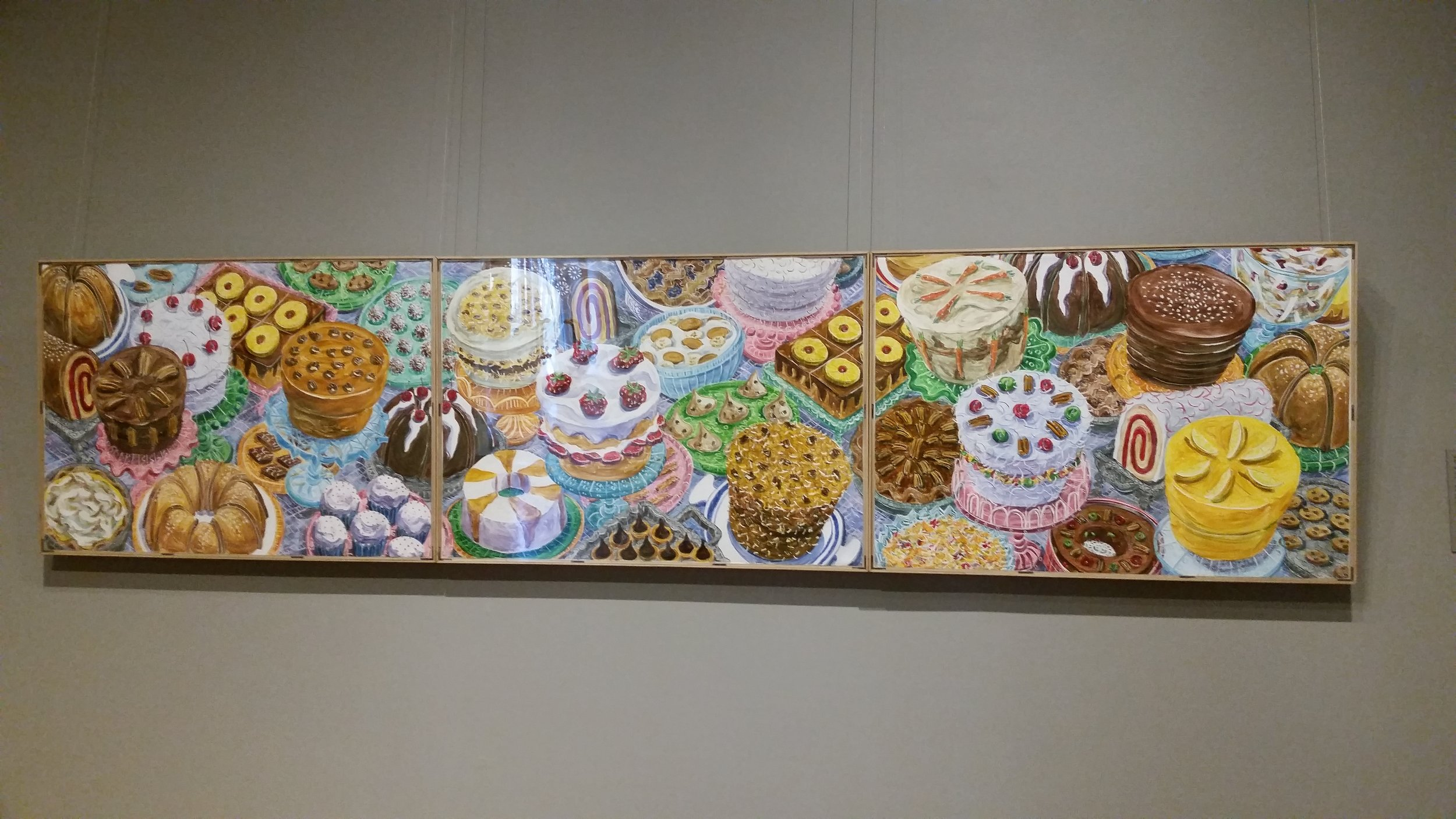 This painting,  Just Desserts by Betty Bivins Edwards, hangs at the Telfair Museum. I feel its a pretty close representation of everything I ate while visiting Savannah with my friend Mary!