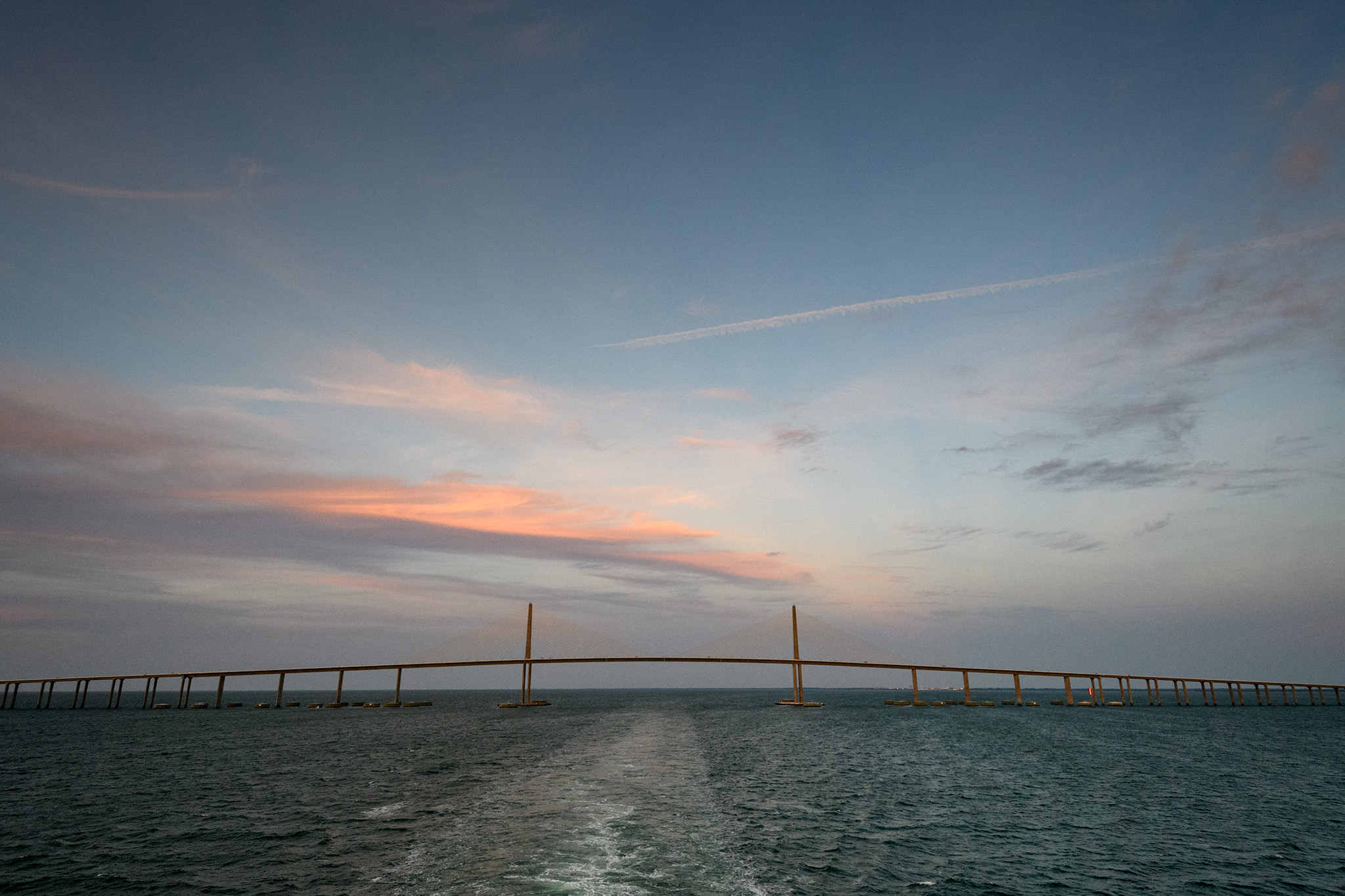 By the Skyway Bridge and headed into the Gulf of Mexico!