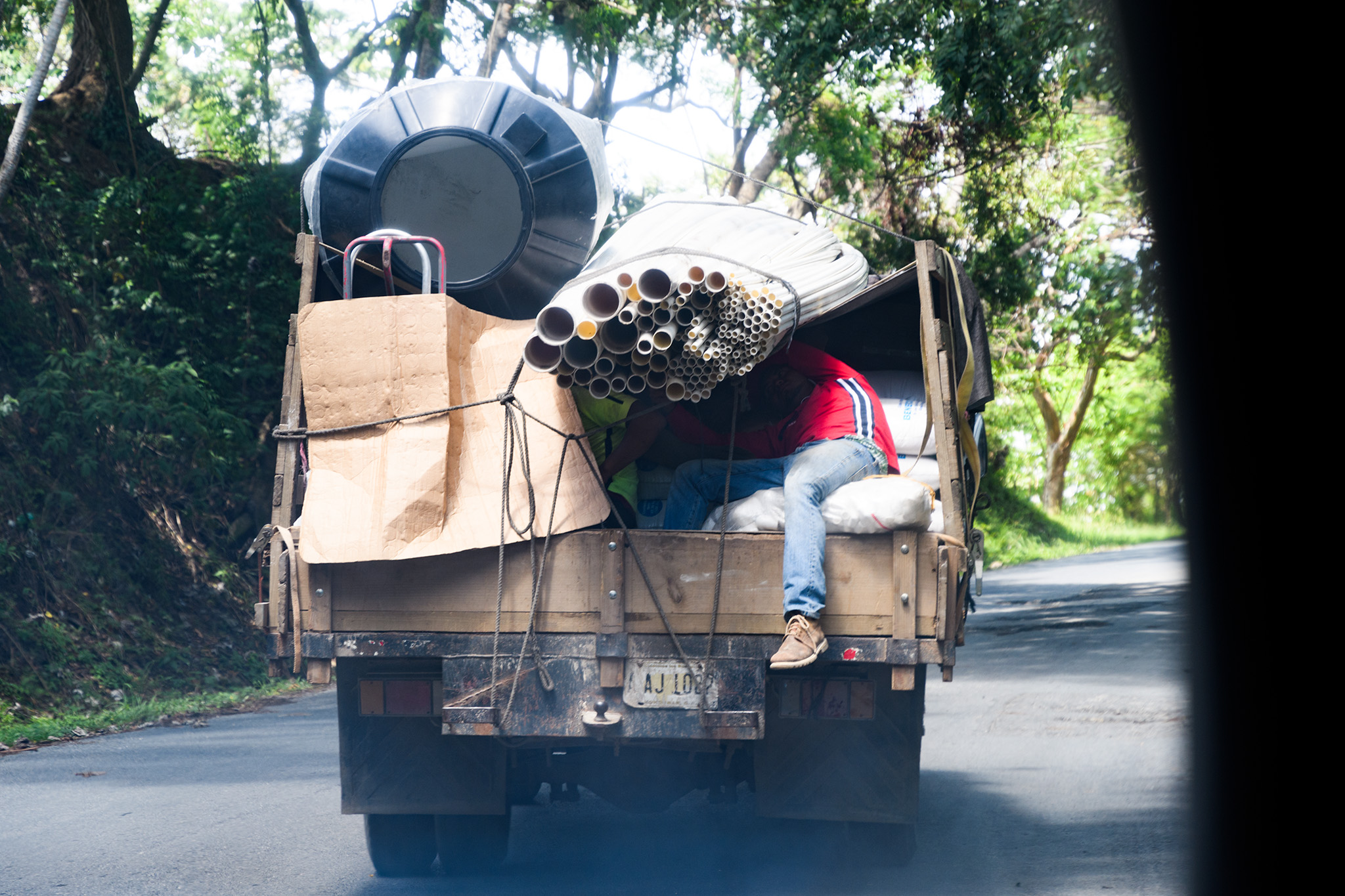 Delivery of supplies for more development somewhere on the island!