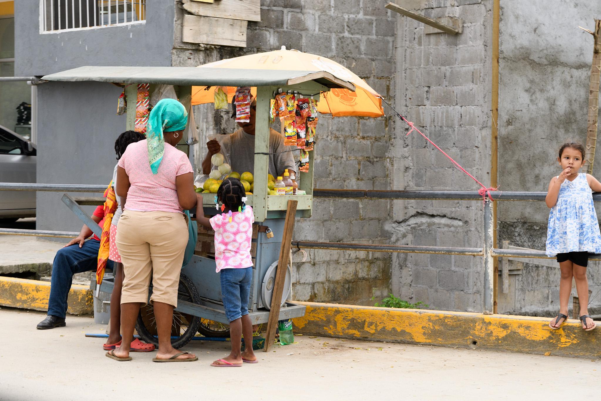 A roadside market