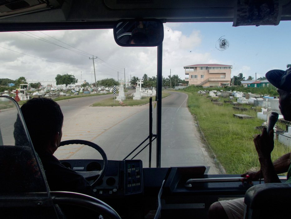 Our excellent guide Peter (with our driver Sousa) made sure we learned about the country of Belize and Belize City during our trip out to the jungle for tubing and zip lining. He was funny, informative and did a great job imparting the culture of Belize to our group, but also kept us safe and well cared for during multiple activities throughout the day.