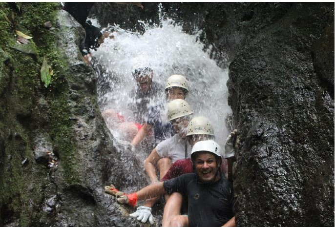 Canyoneering, (above) ziplining, river rafting,  spotting a sloth... on the ground! The Feifer family did it all and tells GoSeeItTravel how!