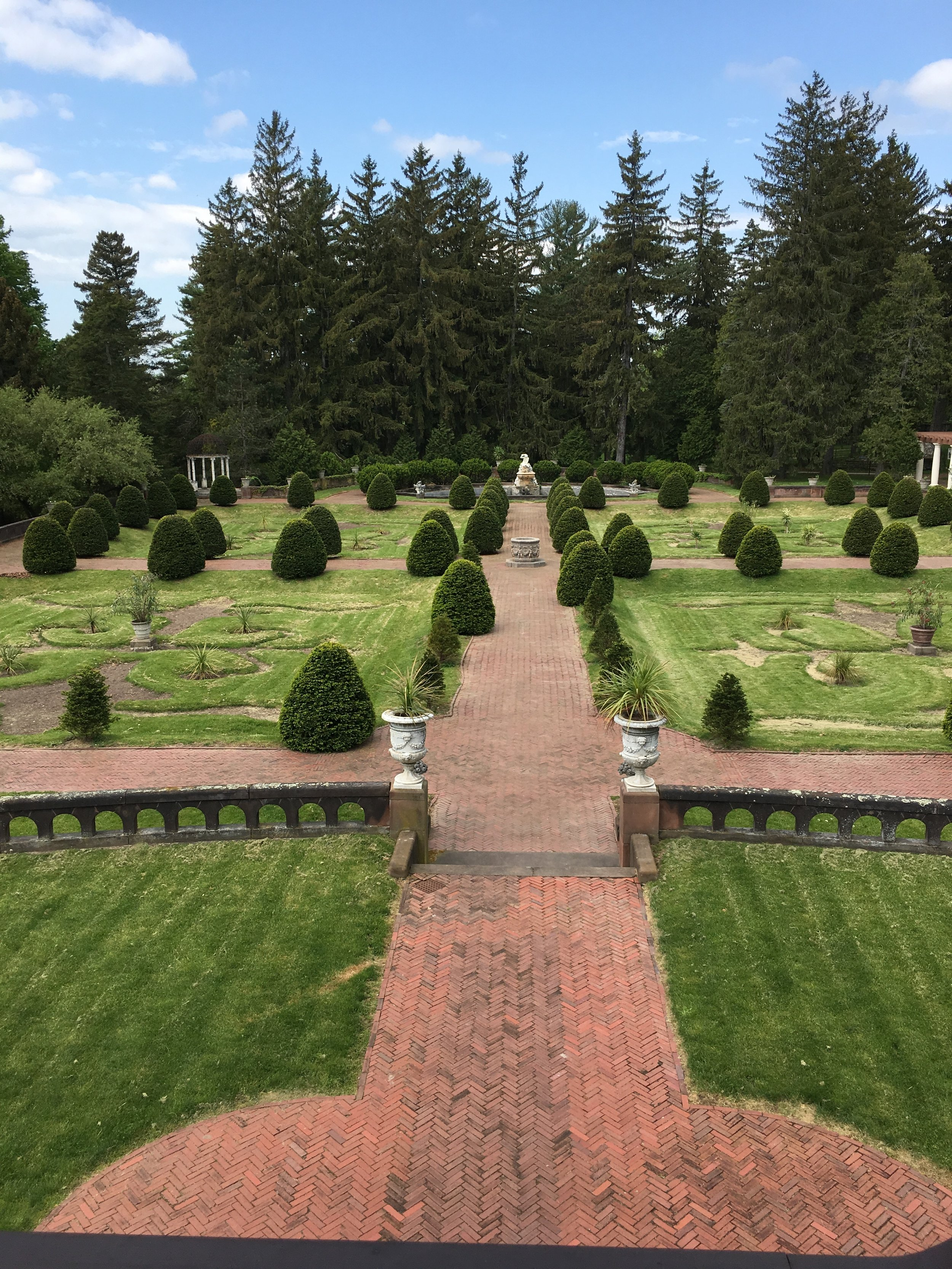 A view of the Gardens from the mansion